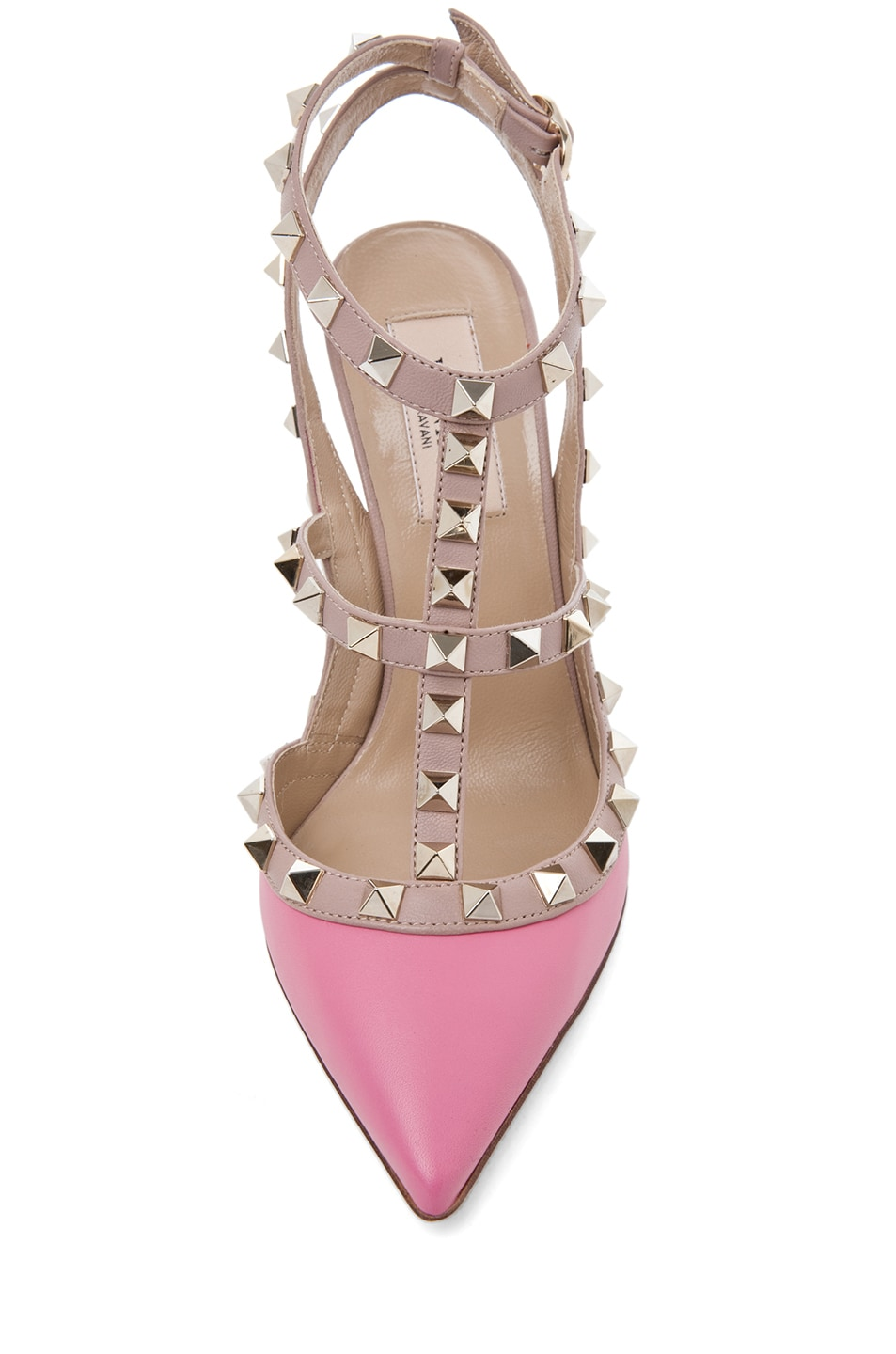 Image 4 of Valentino Rockstud Sling Back T.100 in Passion