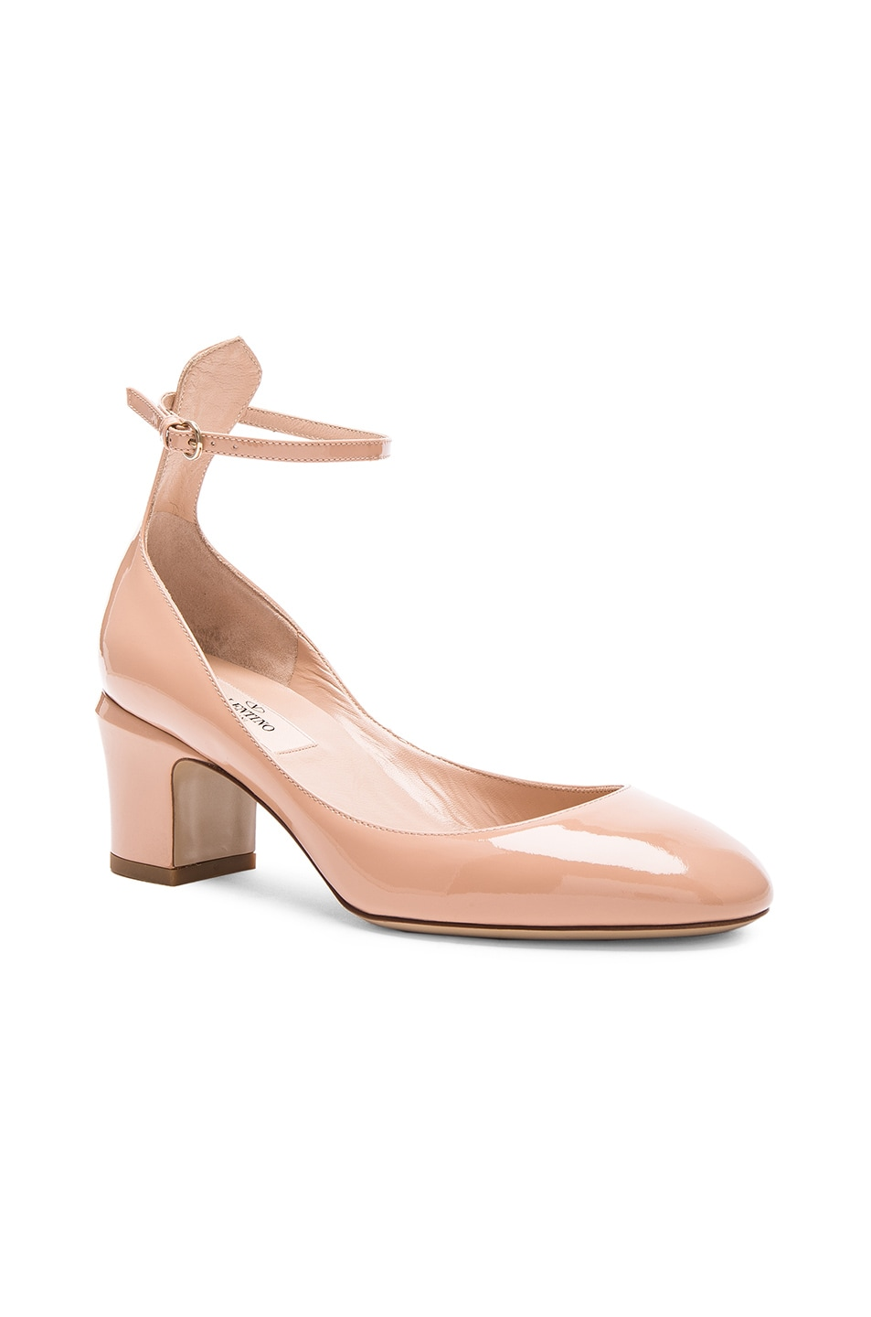 Image 2 of Valentino Patent Leather Tan-Go Pumps in Nude