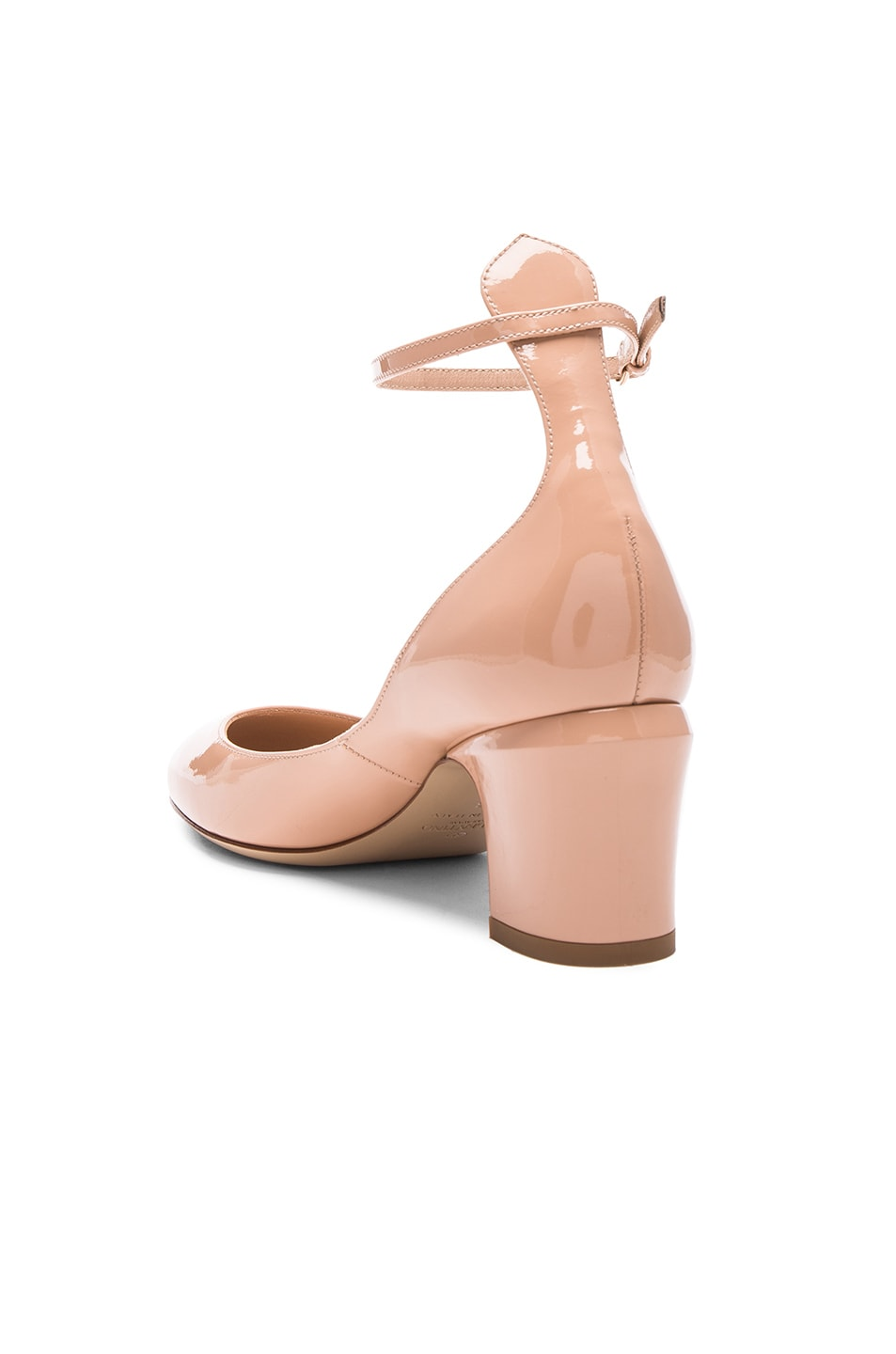 Image 3 of Valentino Patent Leather Tan-Go Pumps in Nude
