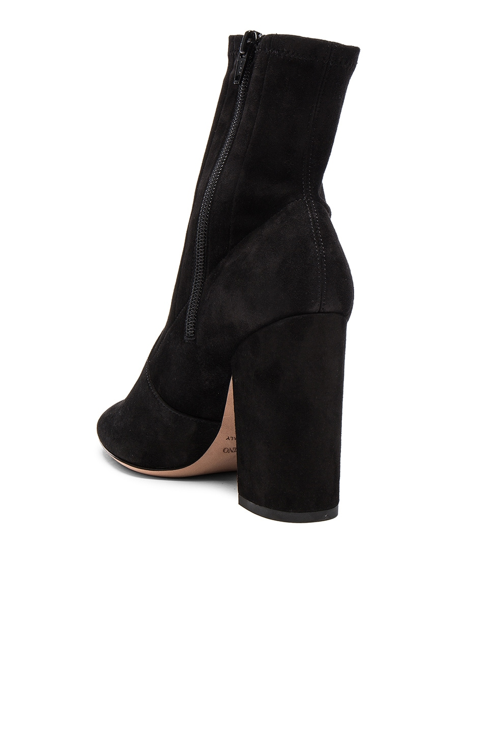 Image 3 of Valentino Suede Booties in Nero