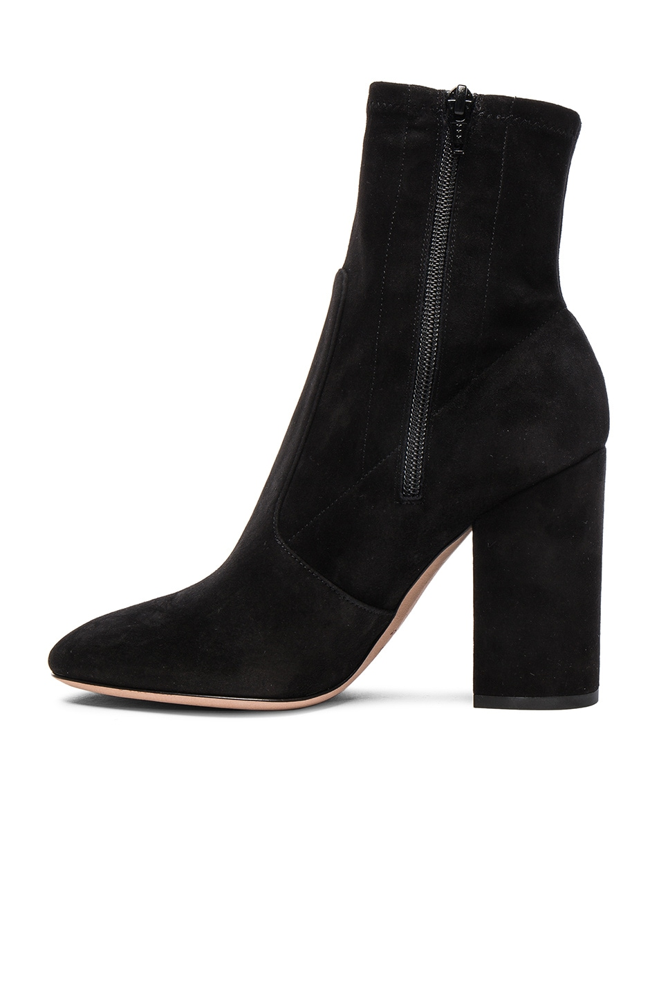 Image 5 of Valentino Suede Booties in Nero