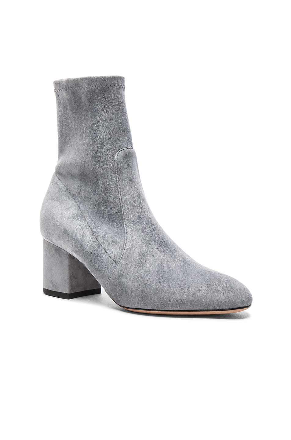 Image 2 of Valentino Suede Booties in Light Stone