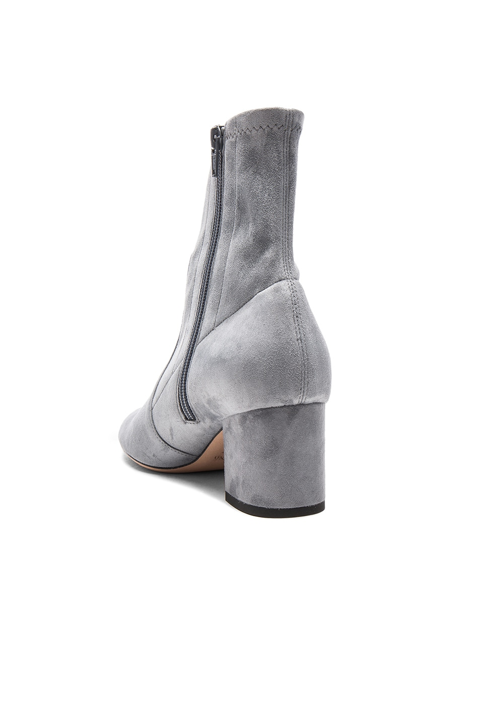 Image 3 of Valentino Suede Booties in Light Stone