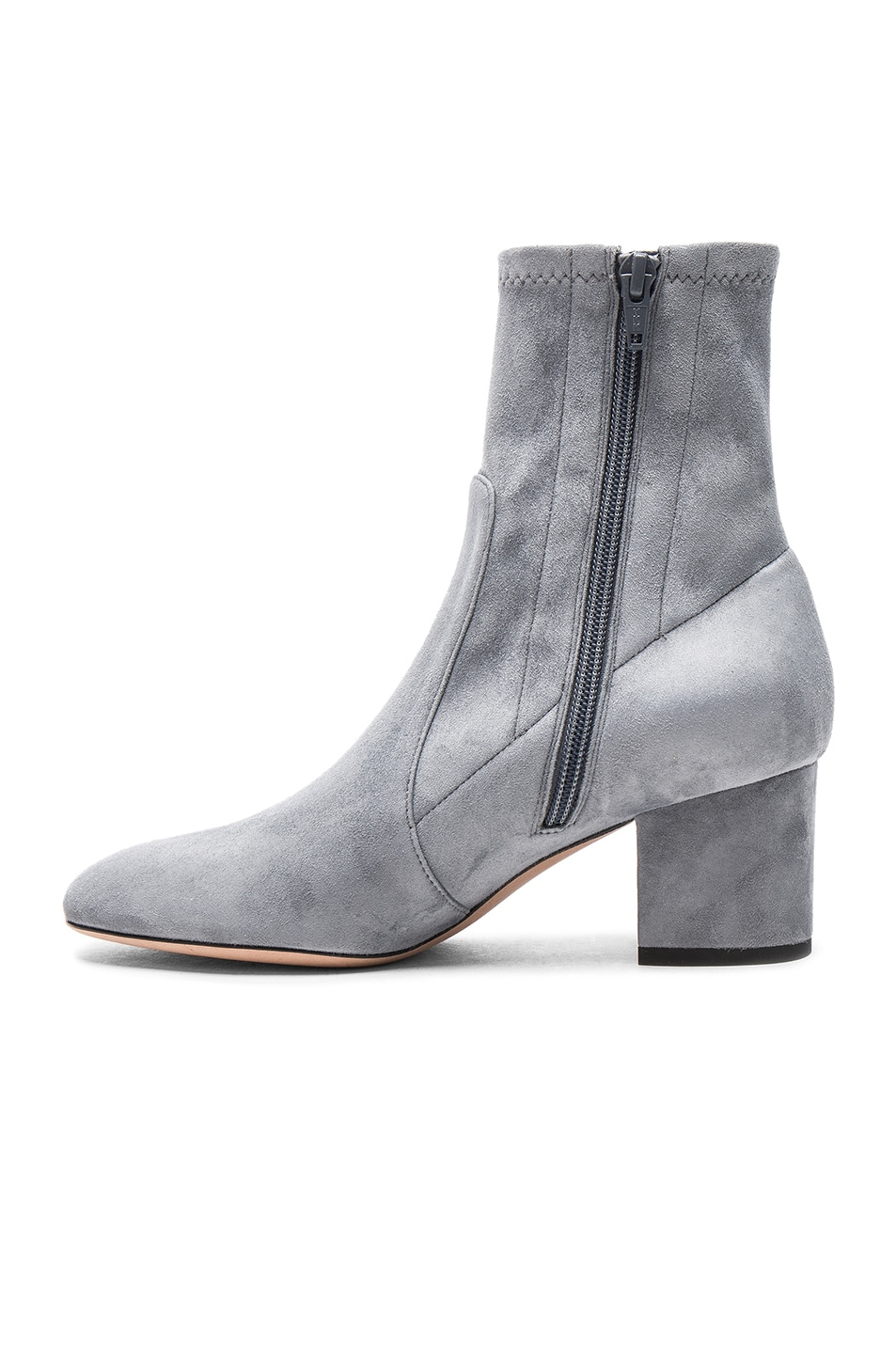Image 5 of Valentino Suede Booties in Light Stone