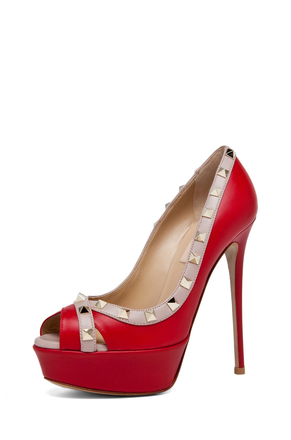 Image 2 of Valentino Rockstud Open Toe in Red
