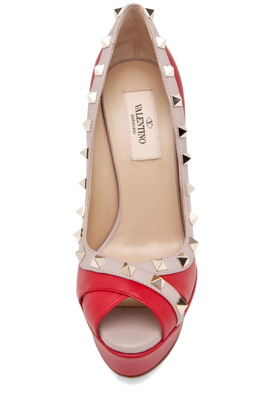 Image 4 of Valentino Rockstud Open Toe in Red