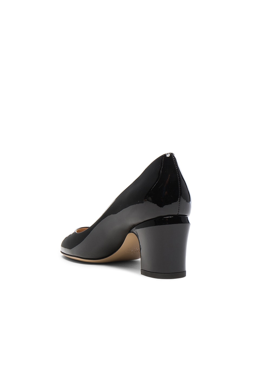 Image 3 of Valentino Tan-Go Patent Leather Pump in Black
