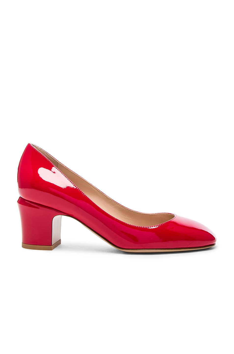 Image 1 of Valentino Patent Leather Tan-Go Pumps in Red