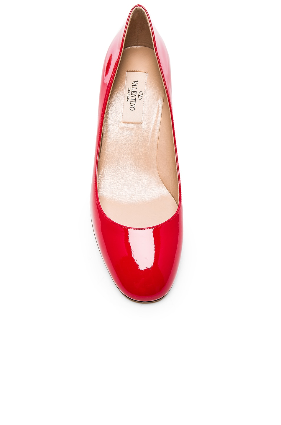 Image 4 of Valentino Patent Leather Tan-Go Pumps in Red