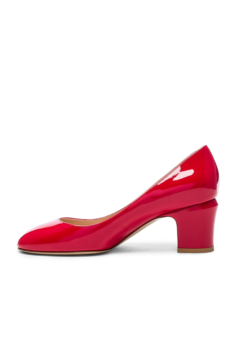 Image 5 of Valentino Patent Leather Tan-Go Pumps in Red