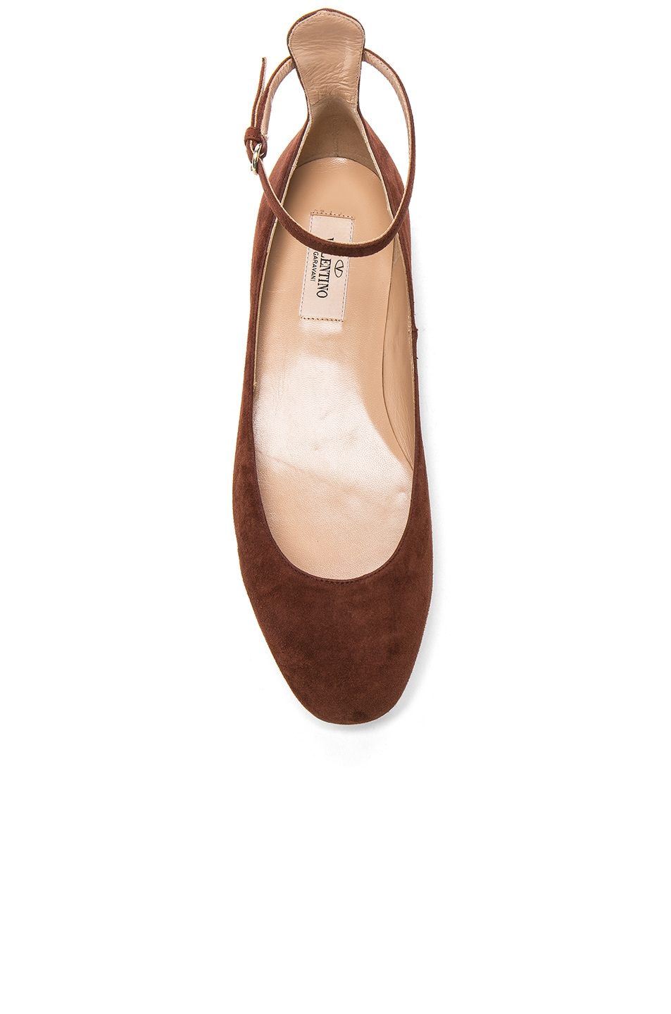 Image 4 of Valentino Suede Tan-Go Flats in Light Brown