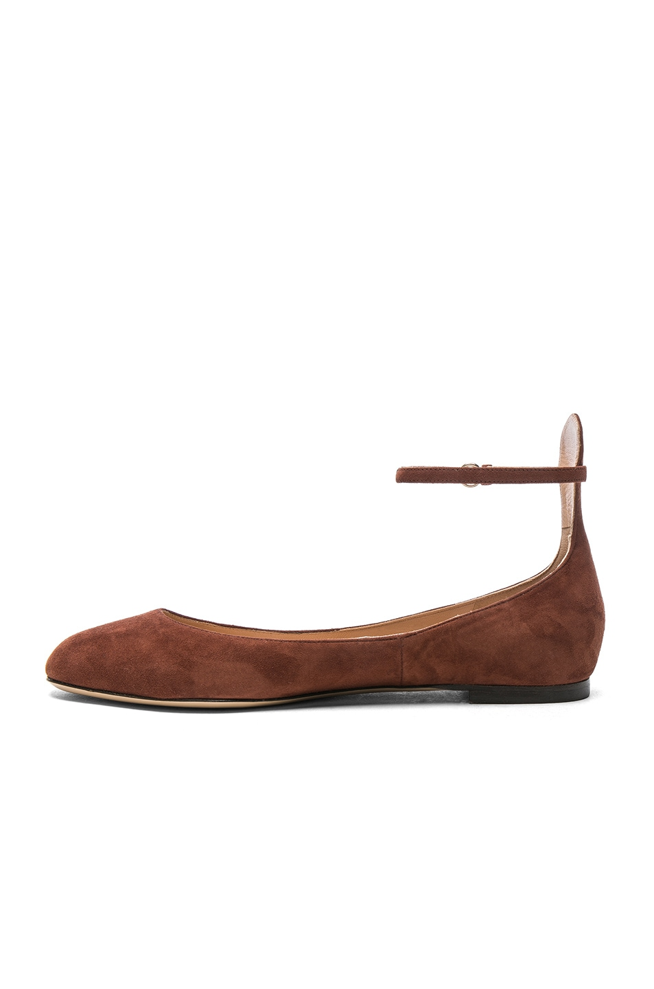 Image 5 of Valentino Suede Tan-Go Flats in Light Brown