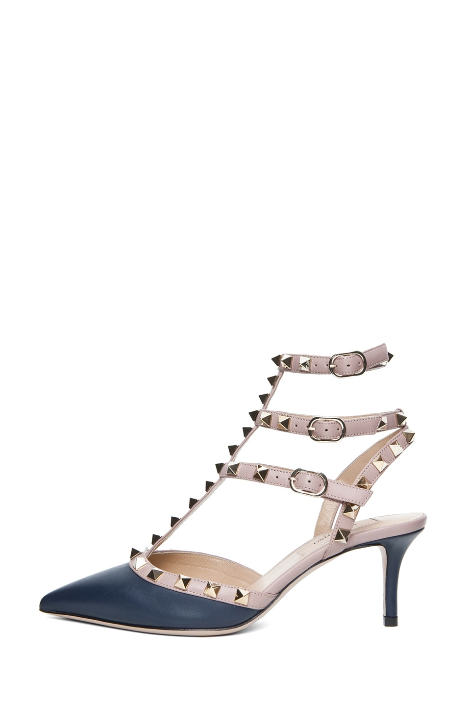 Image 1 of Valentino Rockstud Nappa Leather Slingback T.65 in Marine