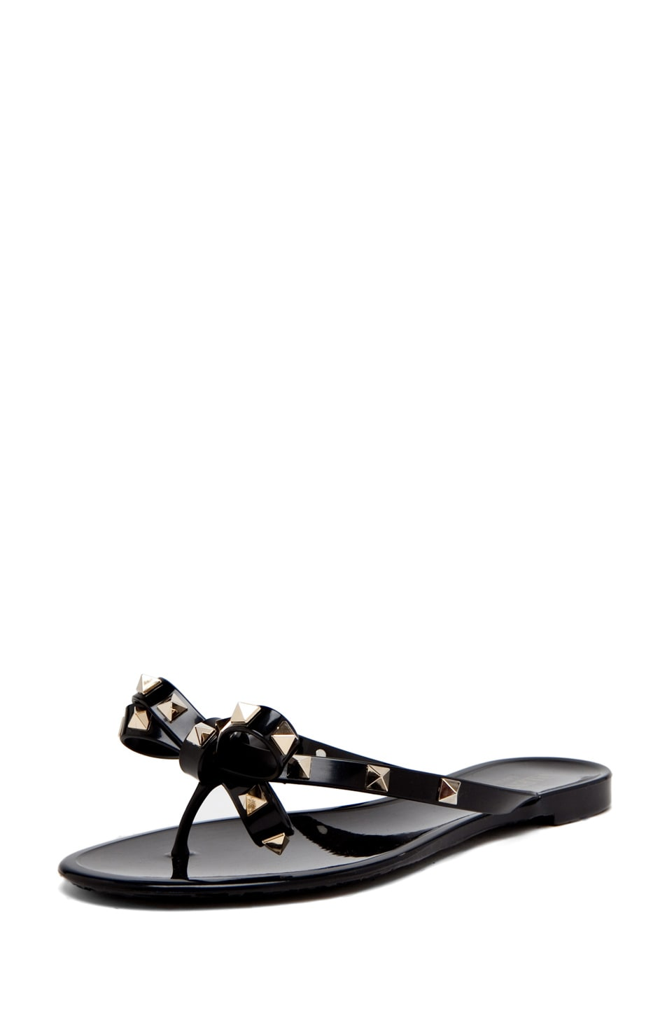 Image 2 of Valentino Rockstud Bow Jelly in Black