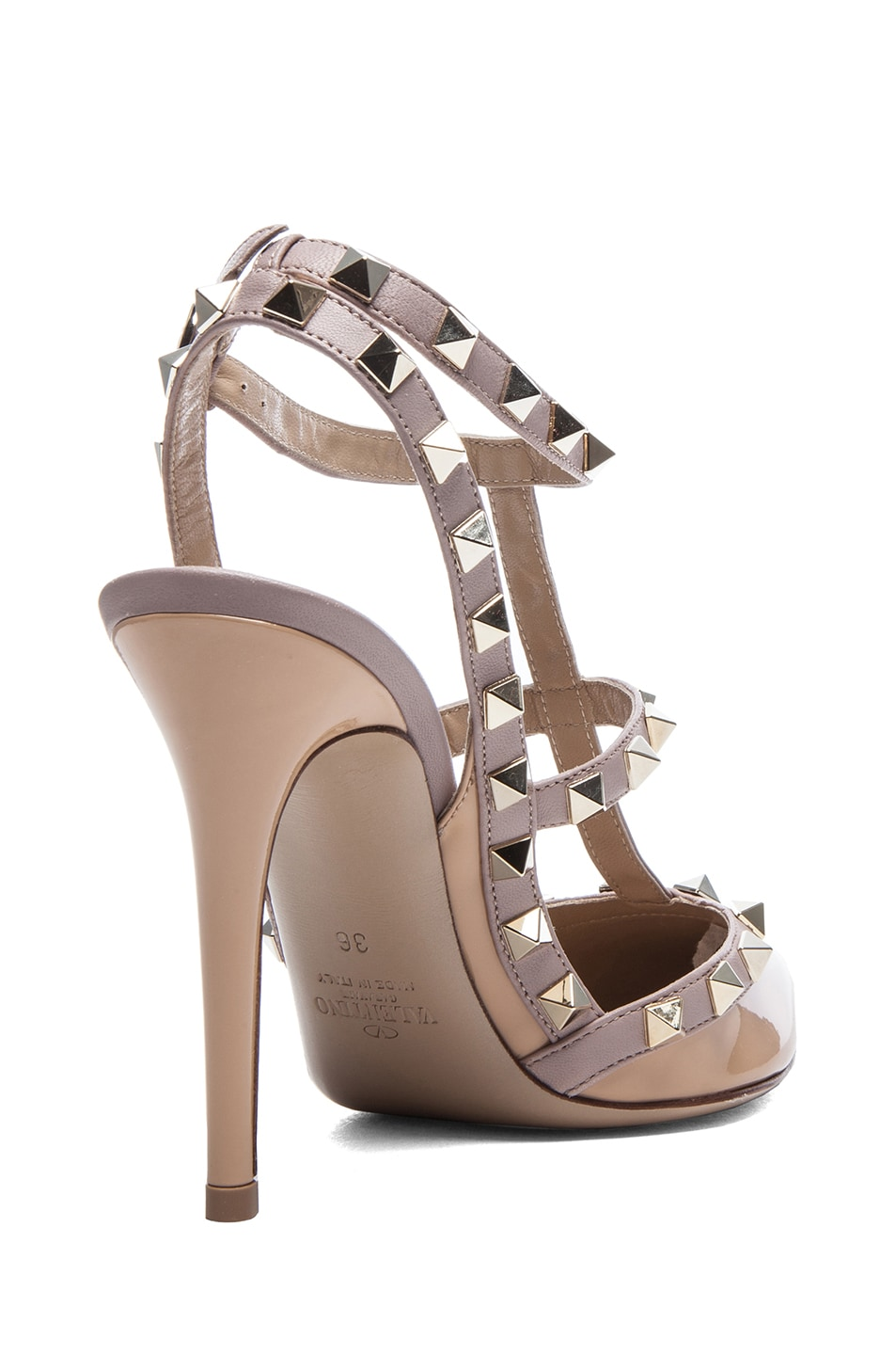 Image 3 of Valentino Rockstud Patent Slingbacks T.100 in Vicuna