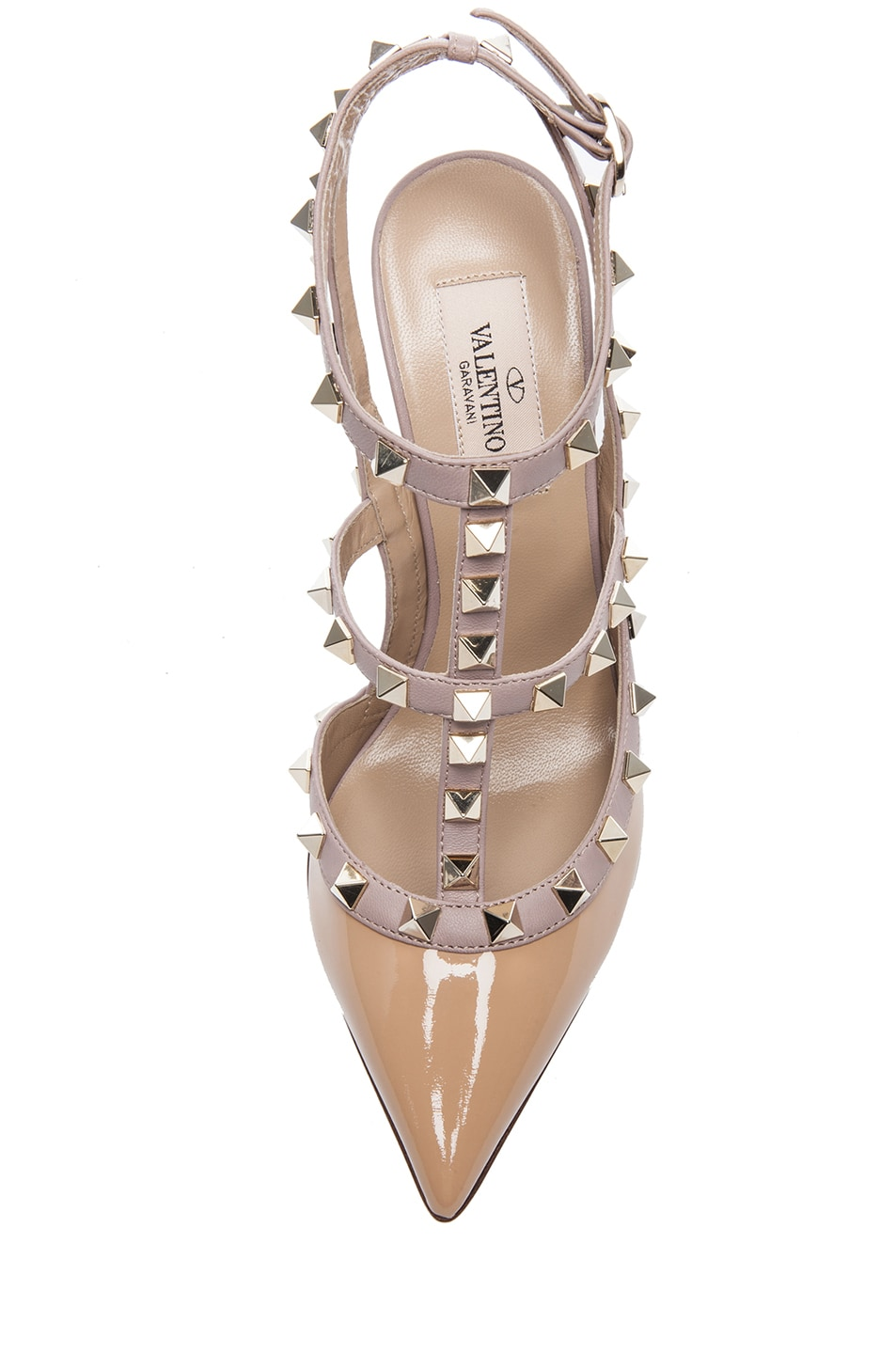 Image 4 of Valentino Rockstud Patent Slingbacks T.100 in Vicuna
