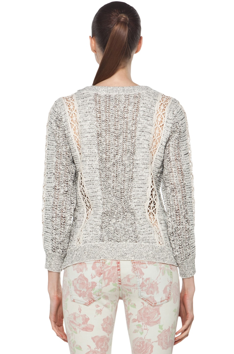 Image 4 of Vanessa Bruno Crochet Pullover in Ecru