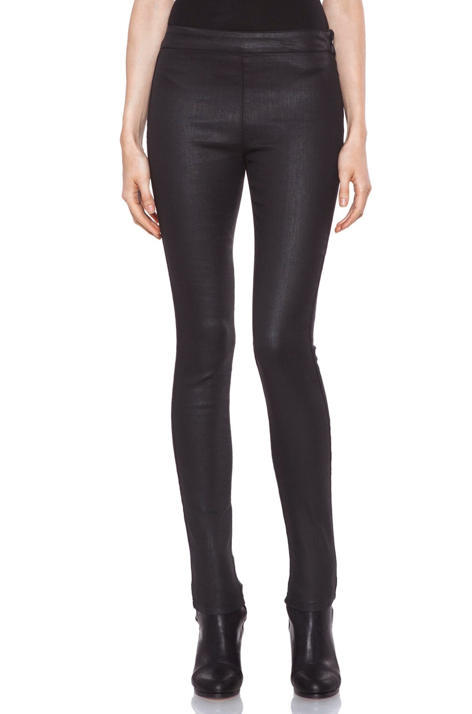 Image 1 of Vanessa Bruno Coated Legging in Black