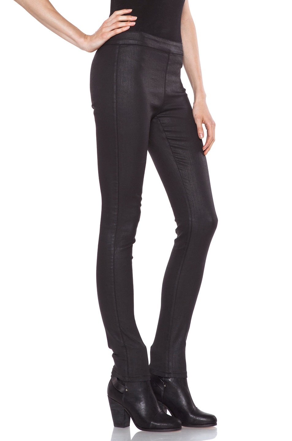 Image 3 of Vanessa Bruno Coated Legging in Black