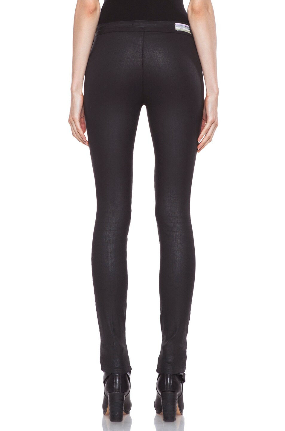 Image 4 of Vanessa Bruno Coated Legging in Black