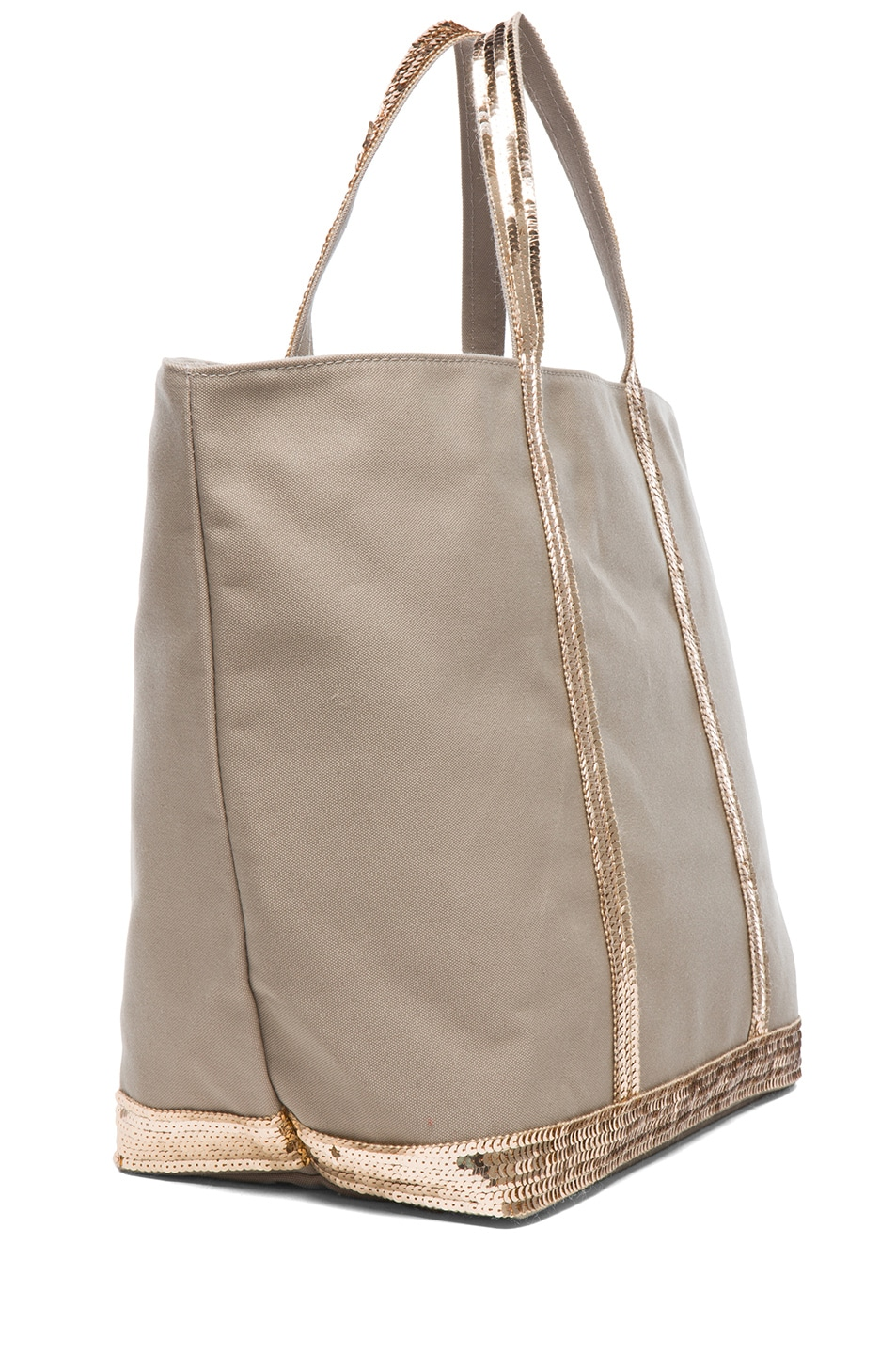 Image 3 of Vanessa Bruno Toile De Coton Tote in Savane