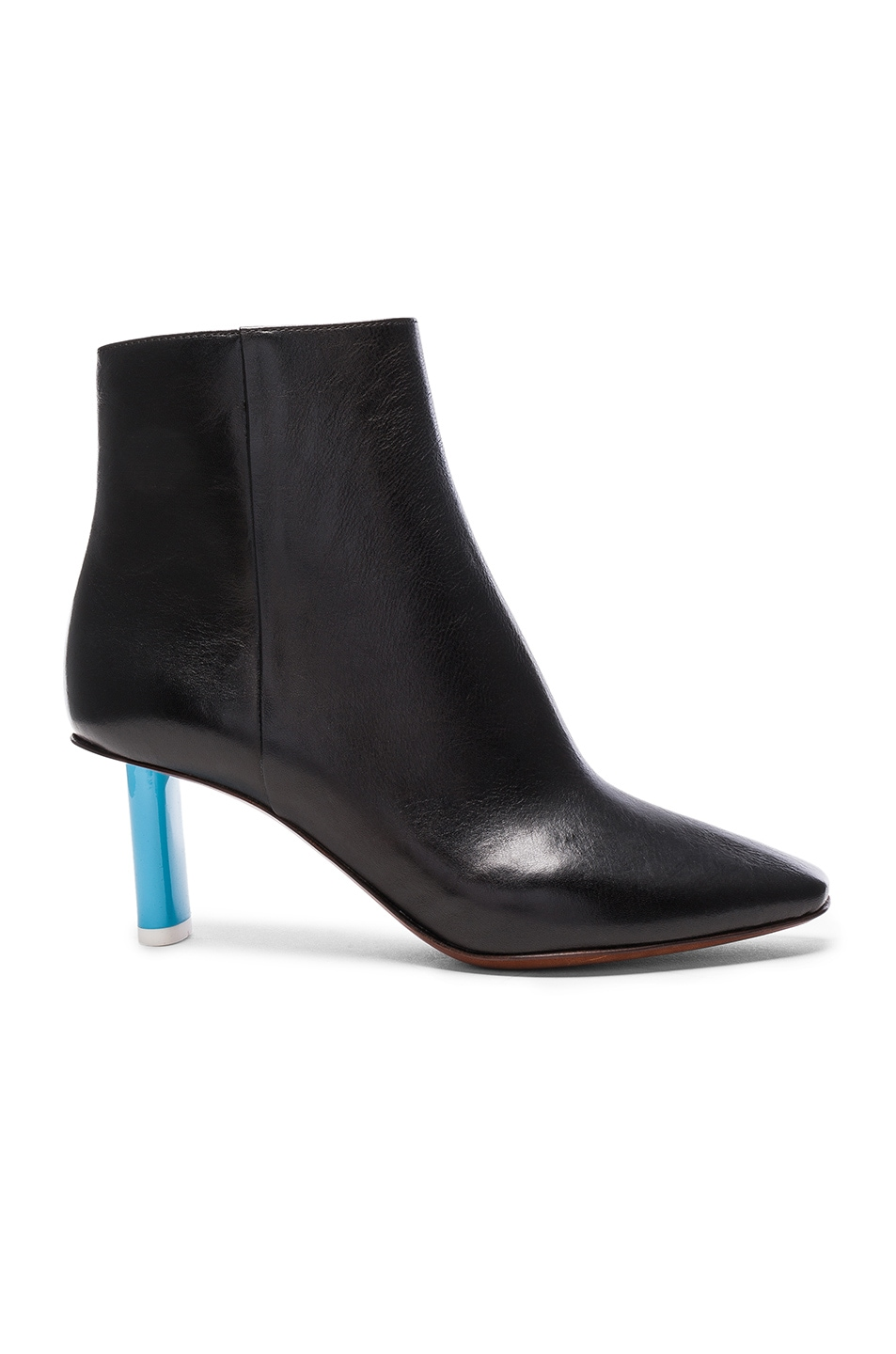 Image 1 of VETEMENTS Leather Ankle Boots in Black & Blue