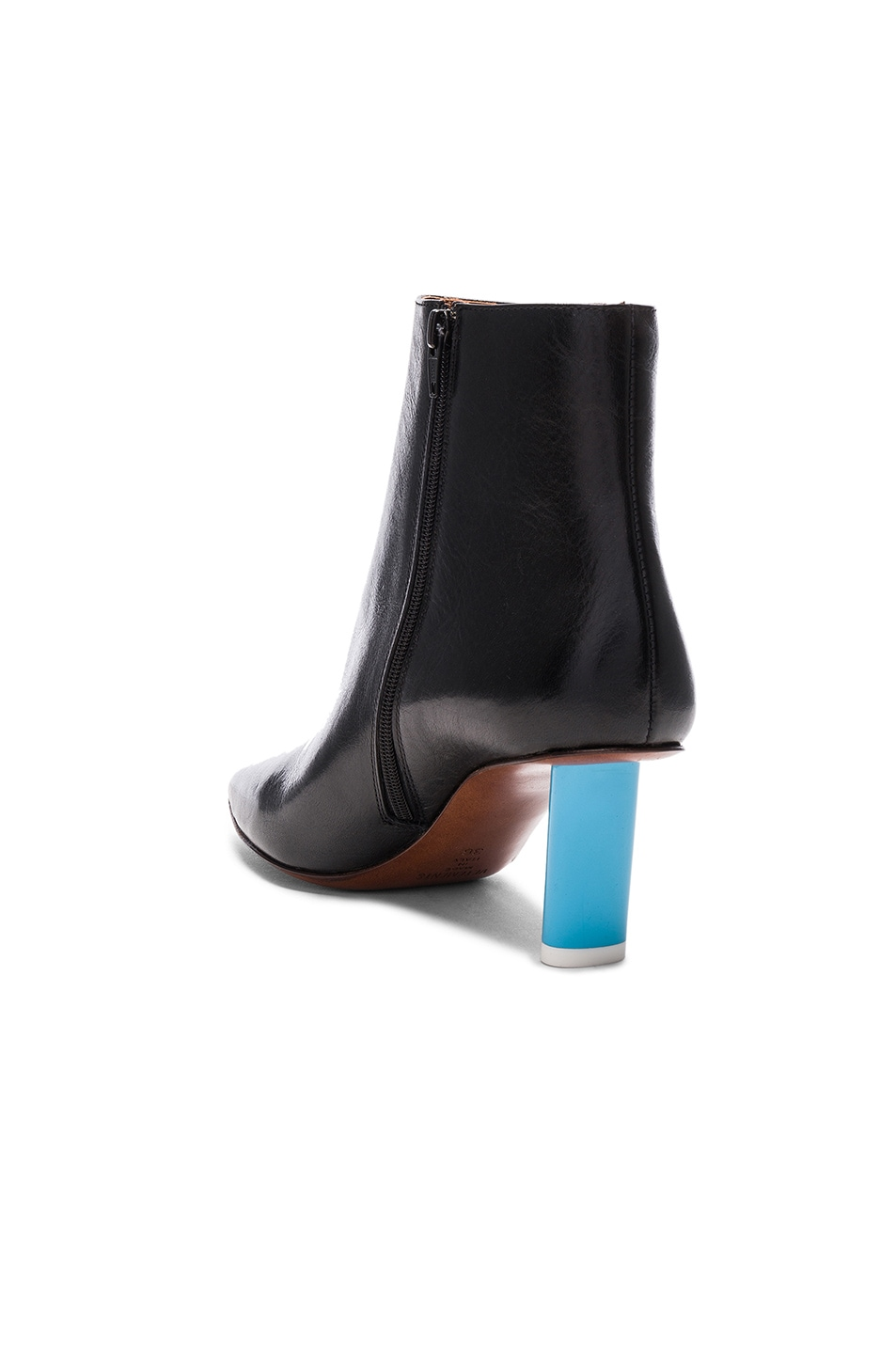 Image 3 of VETEMENTS Leather Ankle Boots in Black & Blue