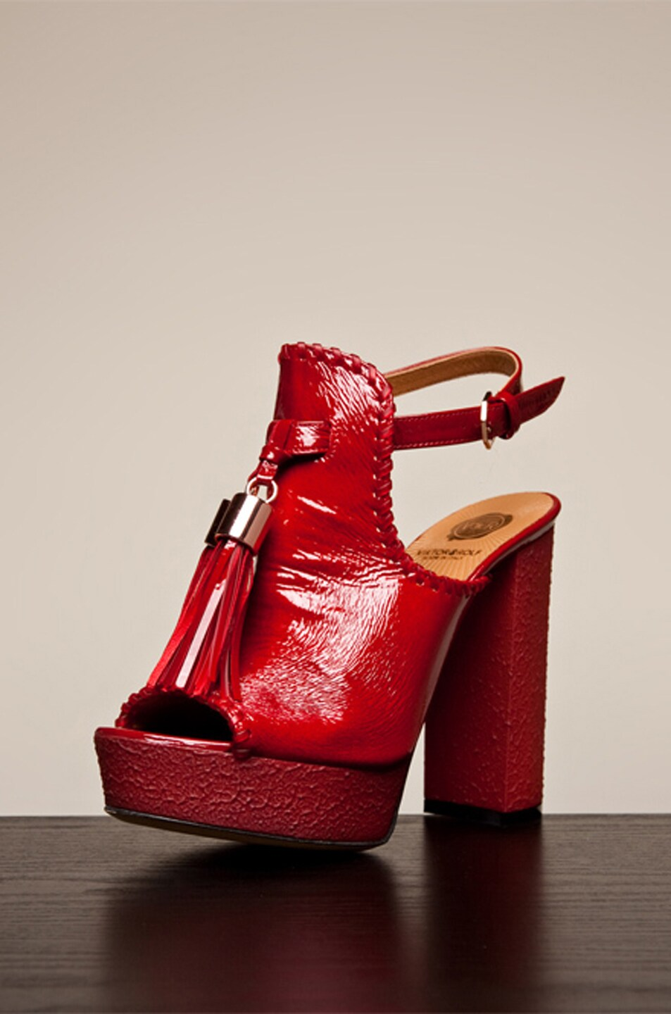 Image 1 of Viktor & Rolf Tassel Platform in Red