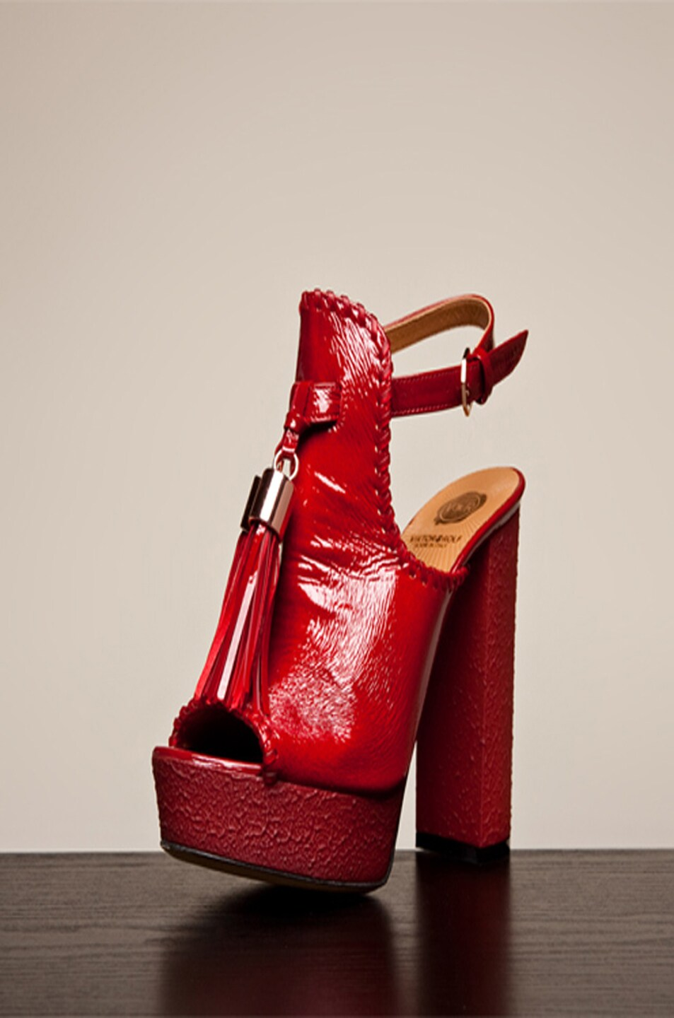 Image 2 of Viktor & Rolf Tassel Platform in Red