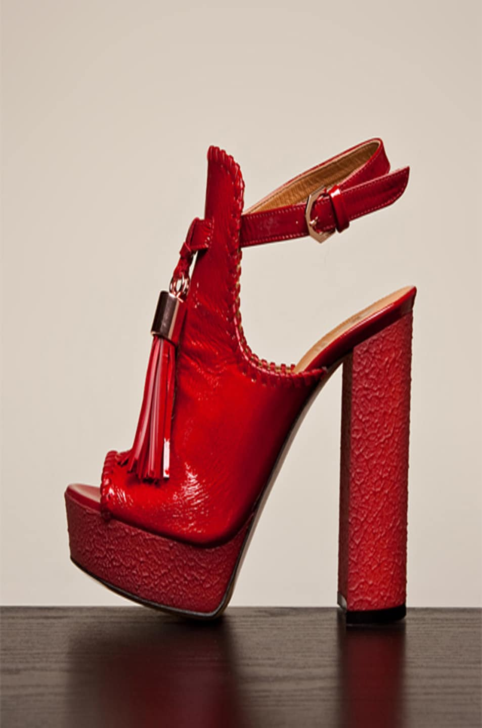 Image 3 of Viktor & Rolf Tassel Platform in Red