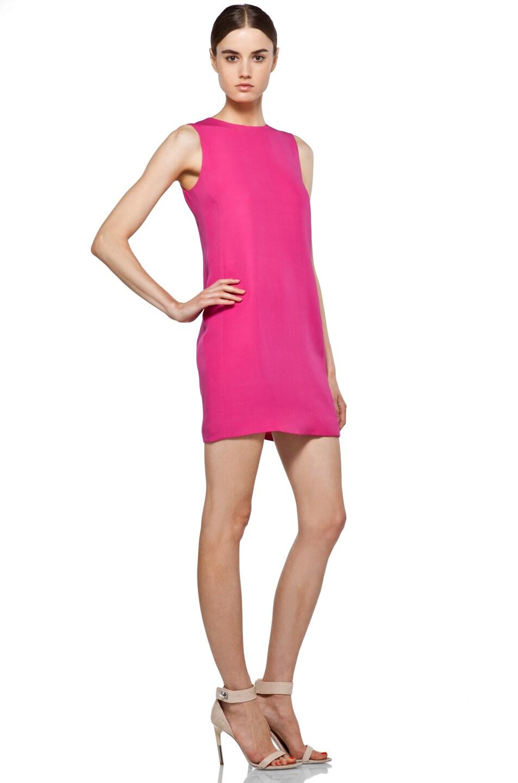 hot pink shift dress - Dress Yp