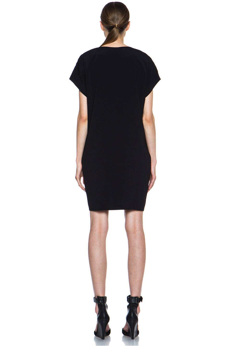 Image 4 of Vince Pleat Front Dress in Black