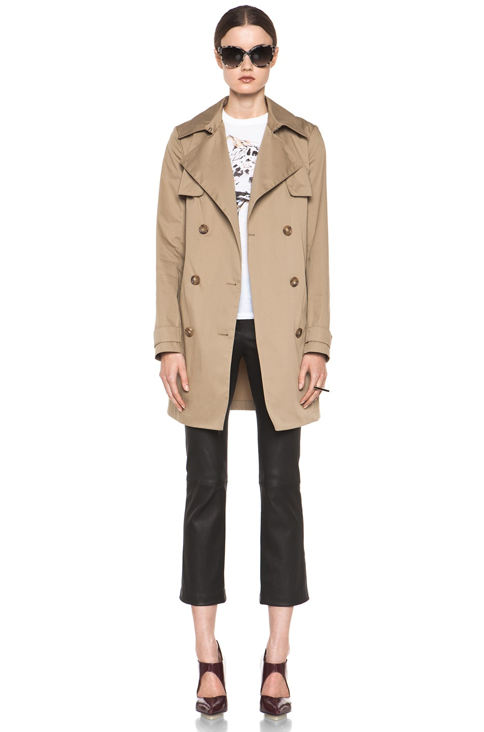 Image 2 of Vince Trench Coat in Khaki