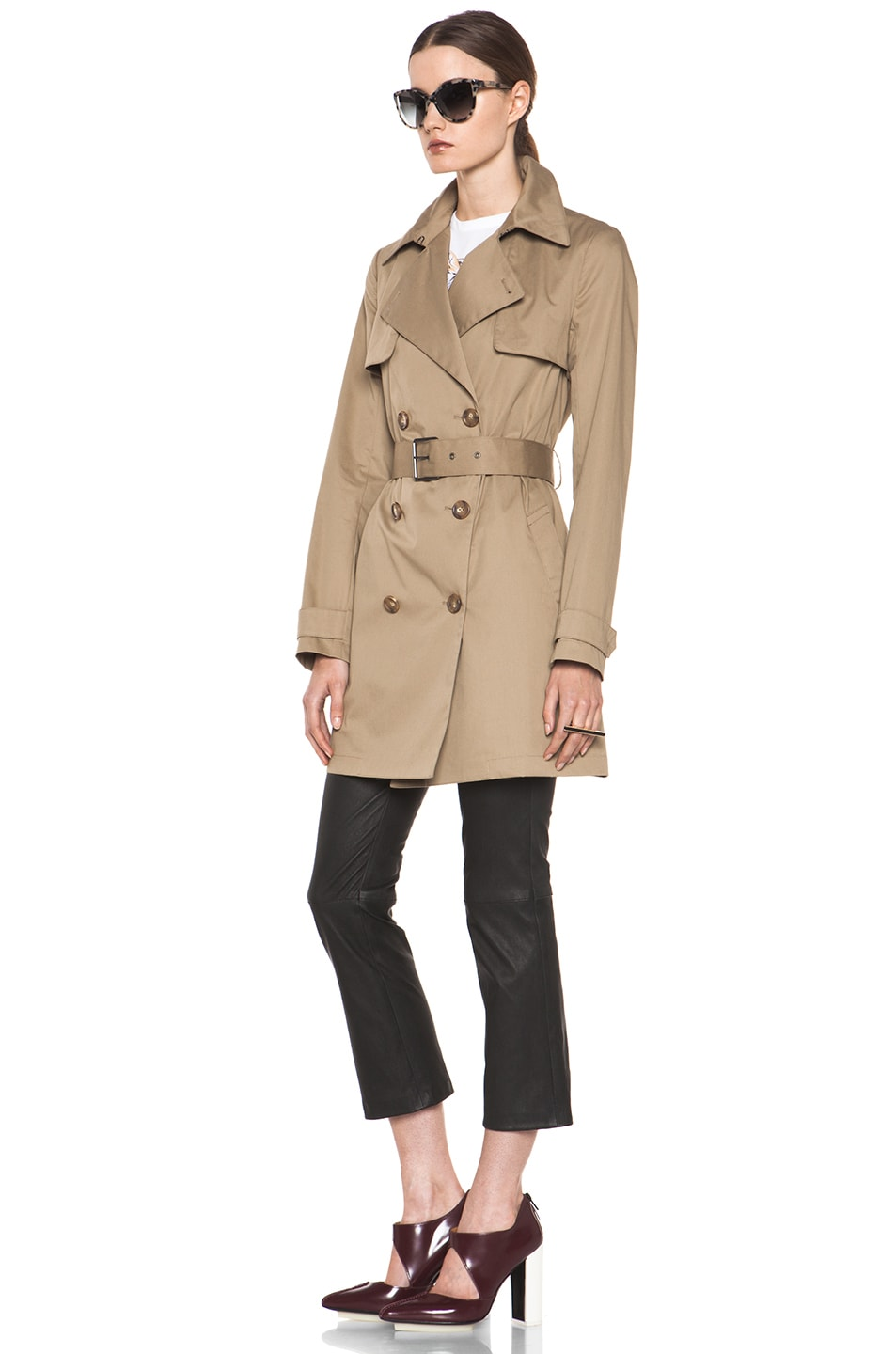 Image 3 of Vince Trench Coat in Khaki