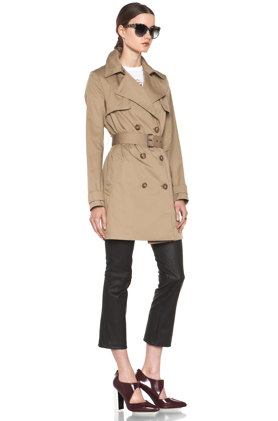 Image 4 of Vince Trench Coat in Khaki