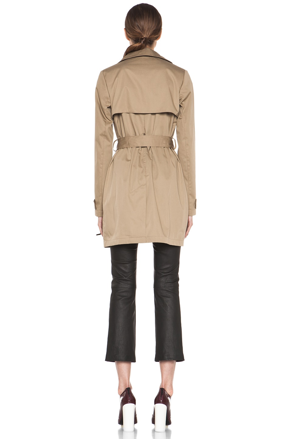 Image 5 of Vince Trench Coat in Khaki