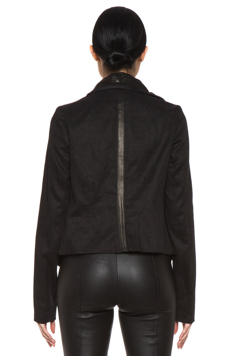 Image 5 of Vince Shawl Collar Leather Jacket