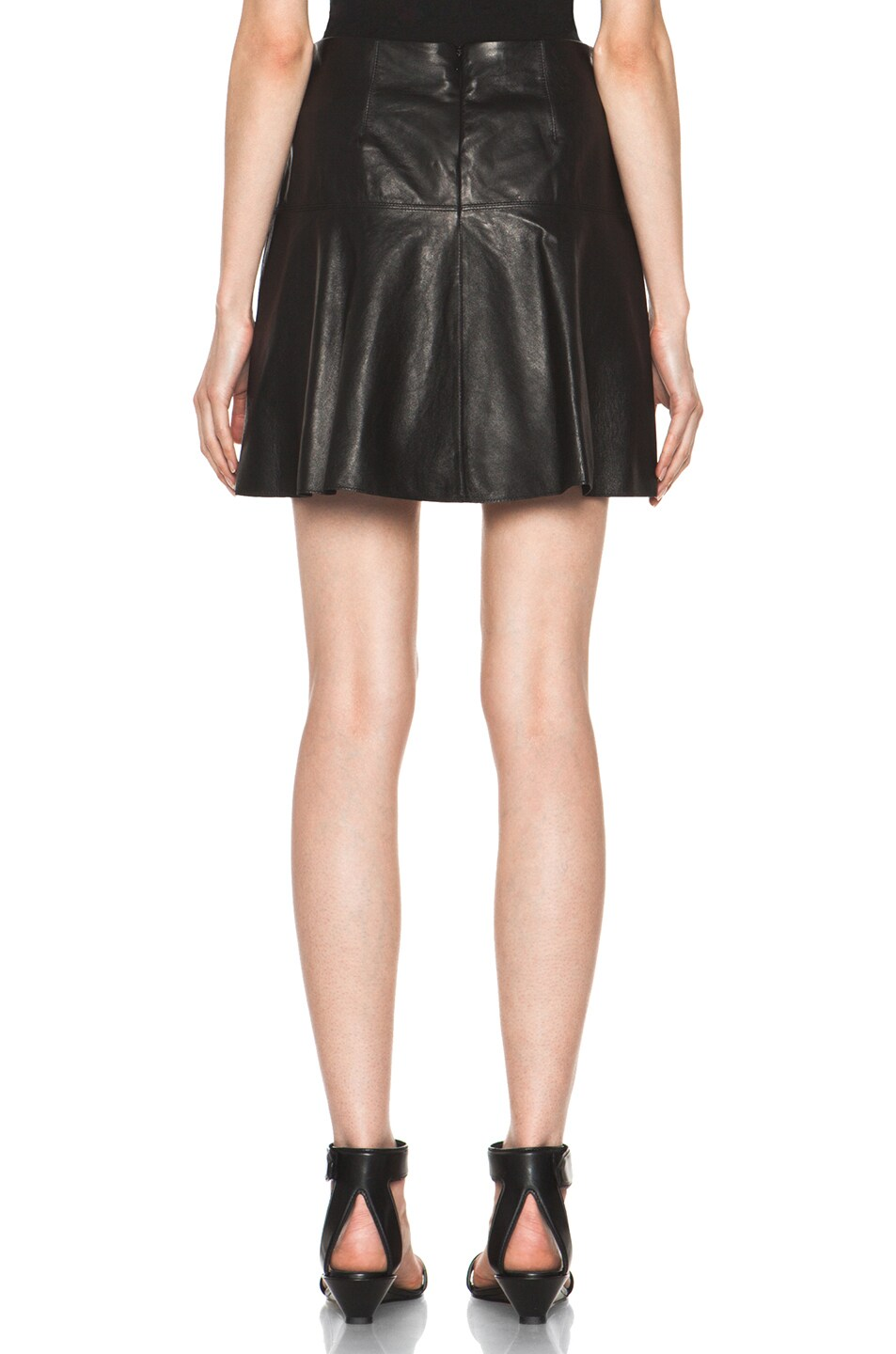 Image 4 of Vince Drop Yoke Flare Skirt in Black