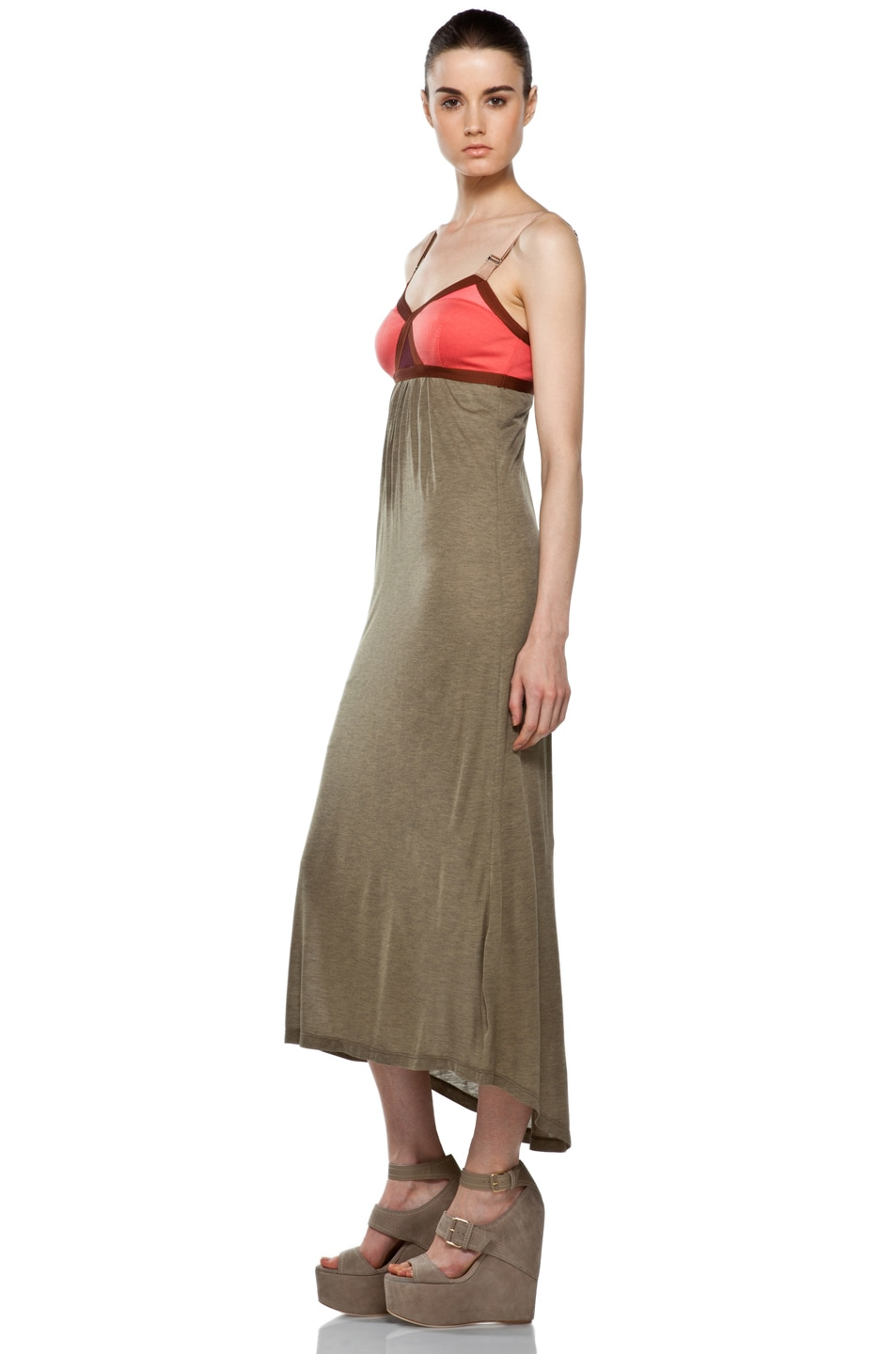 Image 2 of VPL Convexity Breaker Maxi Dress in Shitake