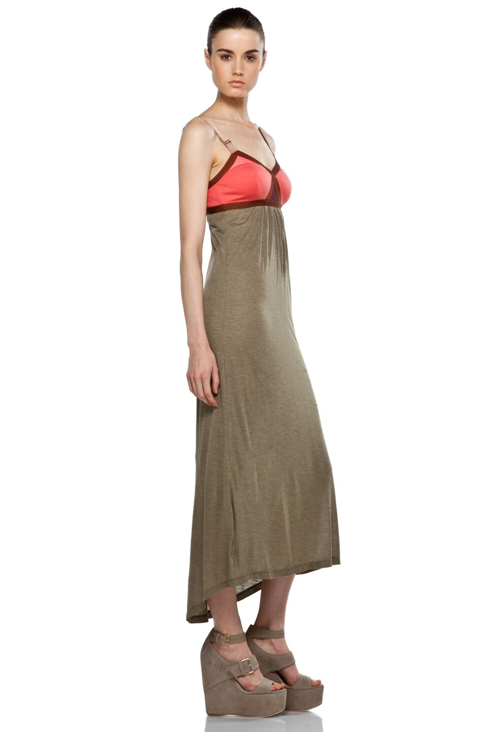 Image 3 of VPL Convexity Breaker Maxi Dress in Shitake