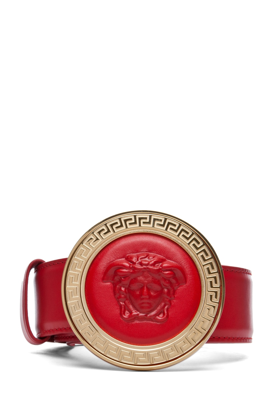 Image 1 of VERSACE Oversized Belt in Red