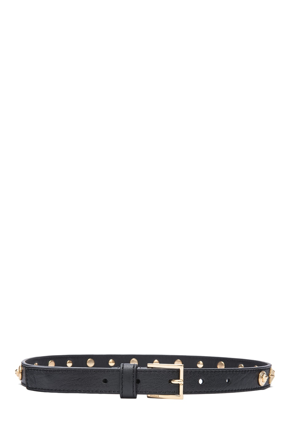 Image 2 of VERSACE Star Studded Belt in Black