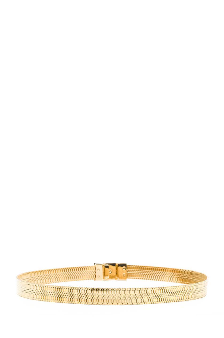 Image 3 of VERSACE Chain Belt in Gold