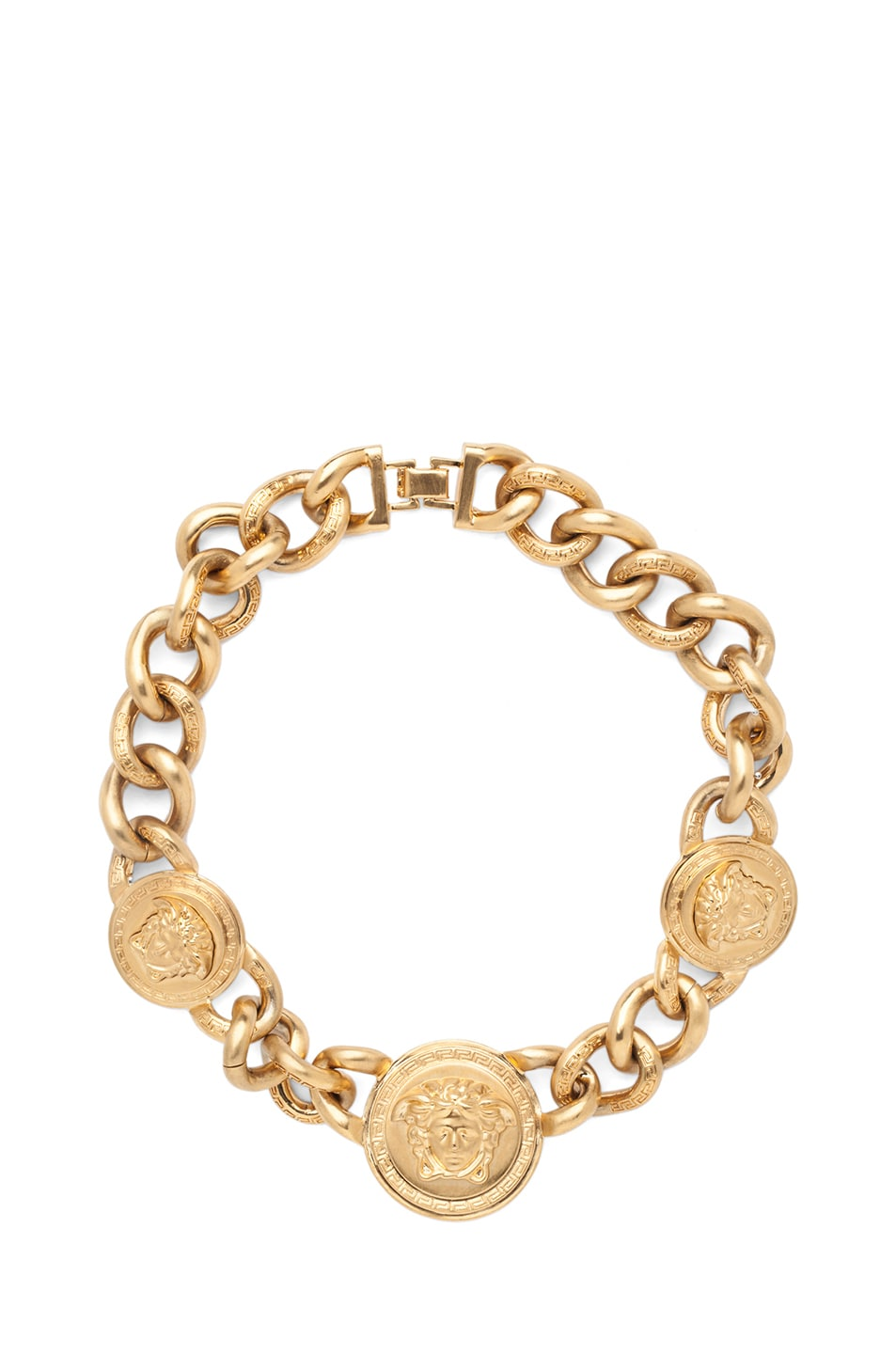 Image 1 of VERSACE 3 Pendent Necklace in Gold