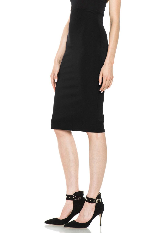 Image 2 of VERSACE Pencil Skirt in Black