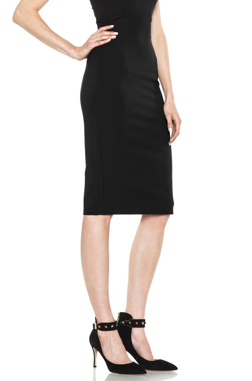 Image 3 of VERSACE Pencil Skirt in Black
