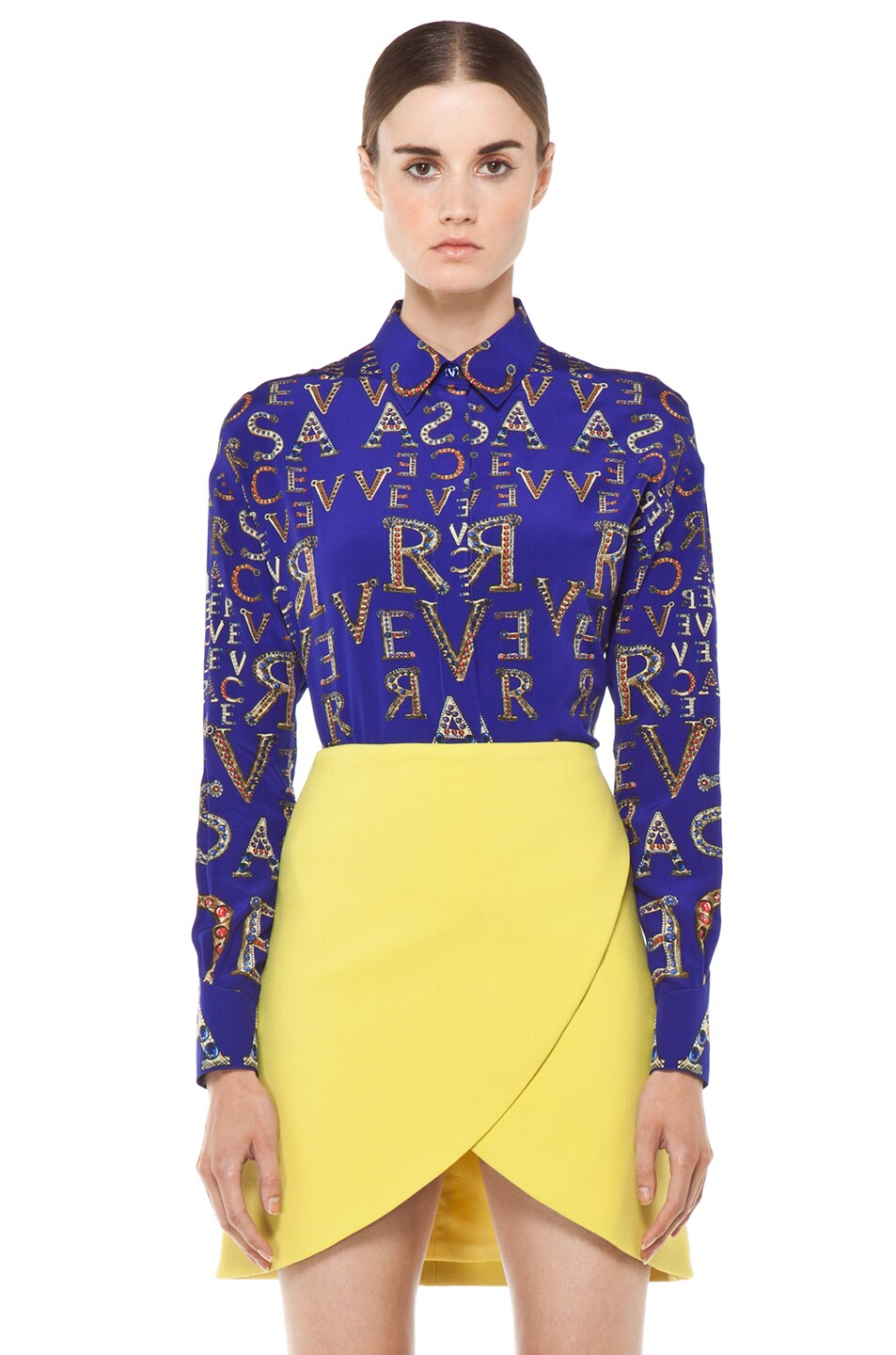 Image 1 of VERSACE Mono Blouse in Blue