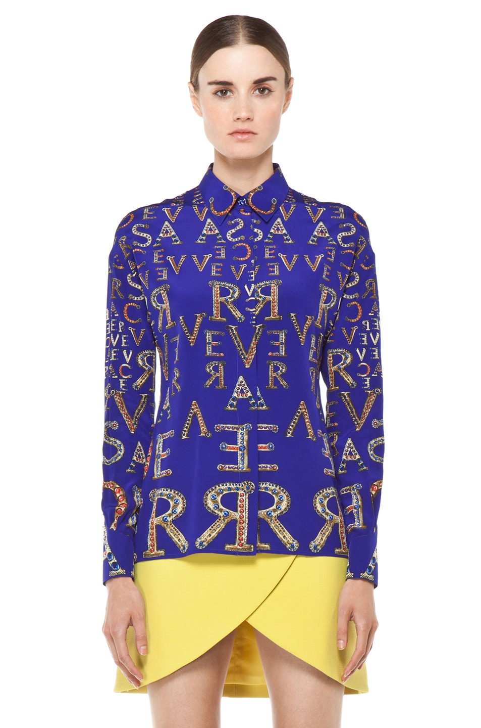 Image 2 of VERSACE Mono Blouse in Blue