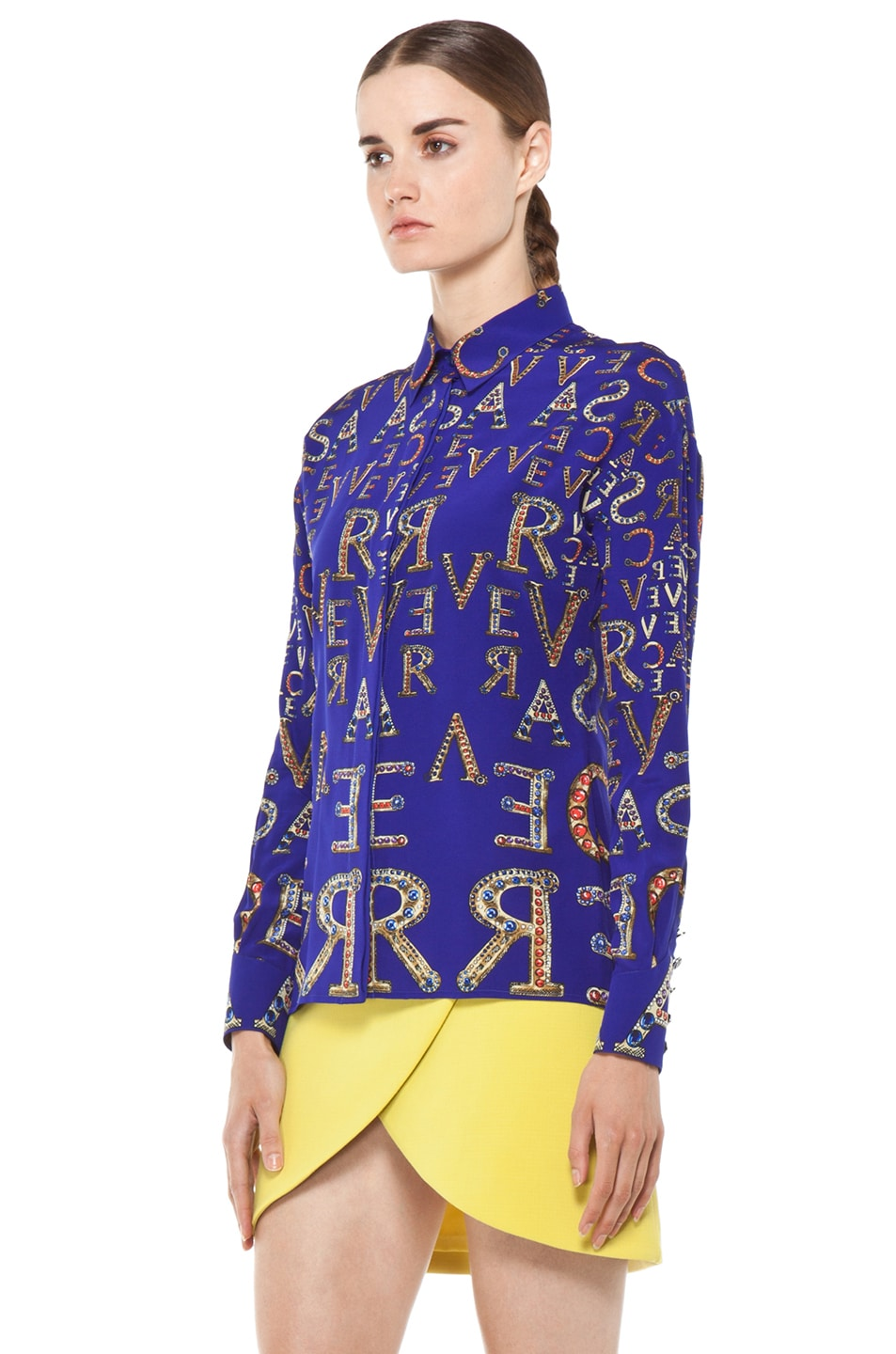 Image 3 of VERSACE Mono Blouse in Blue