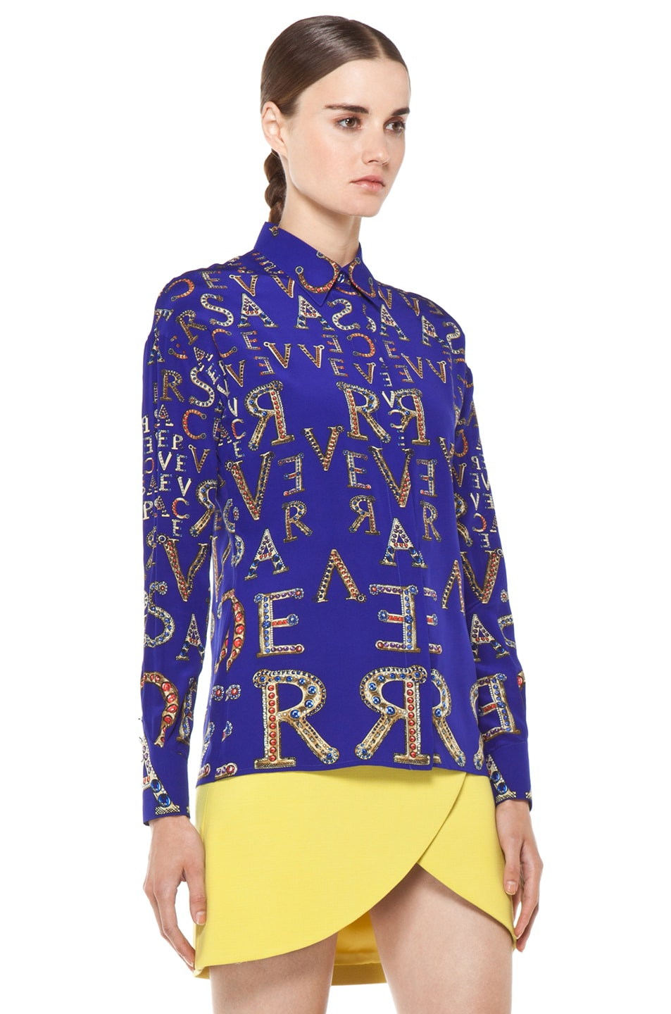Image 4 of VERSACE Mono Blouse in Blue